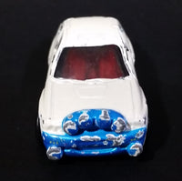 1998 Hot Wheels First Editions Ford Escort Rally #8 Metalflake White & Blue Die Cast Toy Car Vehicle - Treasure Valley Antiques & Collectibles