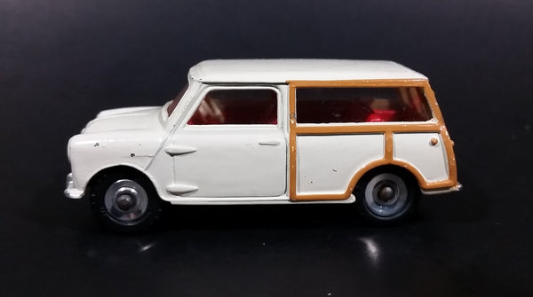 Vintage 1960s Dinky Toys Meccano Morris Mini Traveller No. 197 Die Cast Toy Car Vehicle - Brown Wood Style Trim with Red Interior - Treasure Valley Antiques & Collectibles