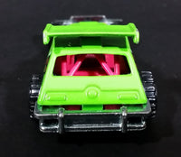 2012 Hot Wheels Demolition Derby Greased Gremlin Lime Green Die Cast Toy Car Vehicle - Treasure Valley Antiques & Collectibles