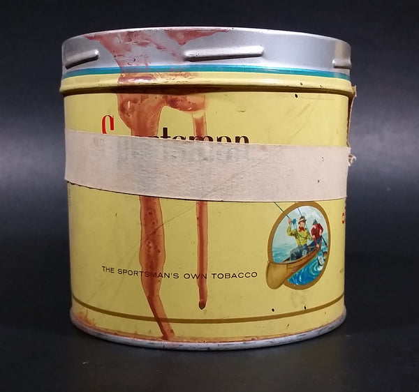 1960s Sportsman Extra Mild Cigarette Tobacco Tin No Lid (Has masking tape around it) - Treasure Valley Antiques & Collectibles