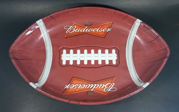 Budweiser Beer American Football Shaped Plastic Serving Platter Tray Sports Collectible