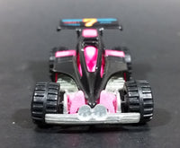 1992 Hot Wheels Shock Factor Black & Pink Die Cast Toy Car Vehicle - Treasure Valley Antiques & Collectibles