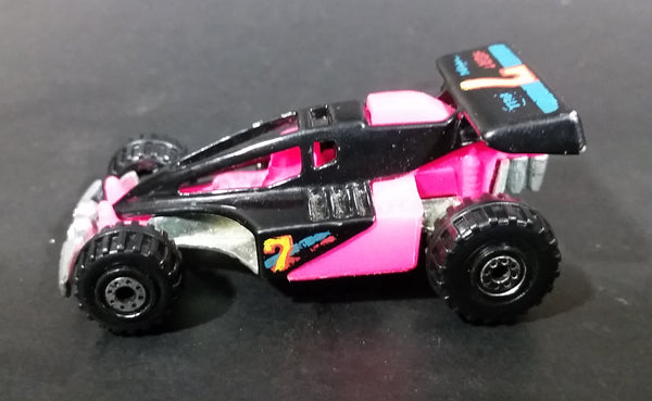 1992 Hot Wheels Shock Factor Black & Pink Die Cast Toy Car Vehicle