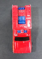 1982 Hot Wheels Flying Colors Rescue Ranger Red Fire Truck Die Cast Toy Car Vehicle - BW - Blue Lights - Treasure Valley Antiques & Collectibles