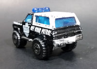 1997 Matchbox 4x4 Chevy Blazer Police Off Road Patrol Truck SUV Black & White Die Cast Toy Car Vehicle - Treasure Valley Antiques & Collectibles
