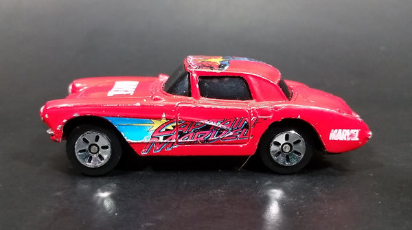 2003 Maisto Marvel 1957 Chevrolet Corvette Captain Marvel Red Die Cast Toy Car Vehicle - Treasure Valley Antiques & Collectibles