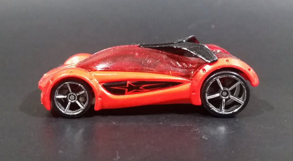 2011 Hot Wheels AcceleRacers Iridium Orange Red Die Cast Toy Car Vehicle - Treasure Valley Antiques & Collectibles