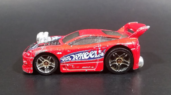2003 Hot Wheels First Editions 'Tooned' 1996 Mitsubishi Eclipse Red Die Cast Toy Car Vehicle - Treasure Valley Antiques & Collectibles