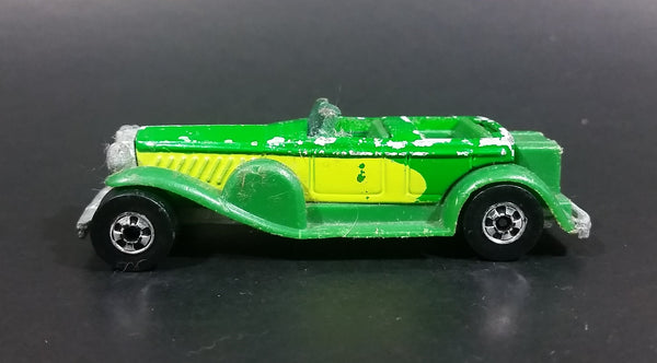 1981 Hot Wheels '31 Doozie Green (Yellow sides) Hong Kong Die Cast Toy Car Vehicle - Treasure Valley Antiques & Collectibles