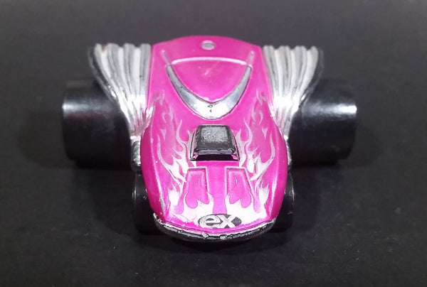 2004 Hot Wheels First Editions Fat Bax Exhausted Magenta Pink Die Cast Toy Car Vehicle - Treasure Valley Antiques & Collectibles