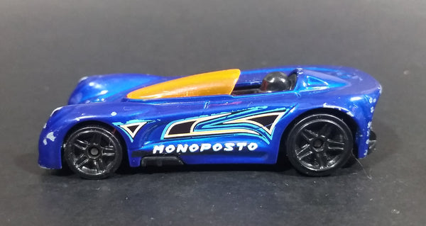 2015 Hot Wheels Monoposto Blue Die Cast Toy Car Vehicle - Treasure Valley Antiques & Collectibles