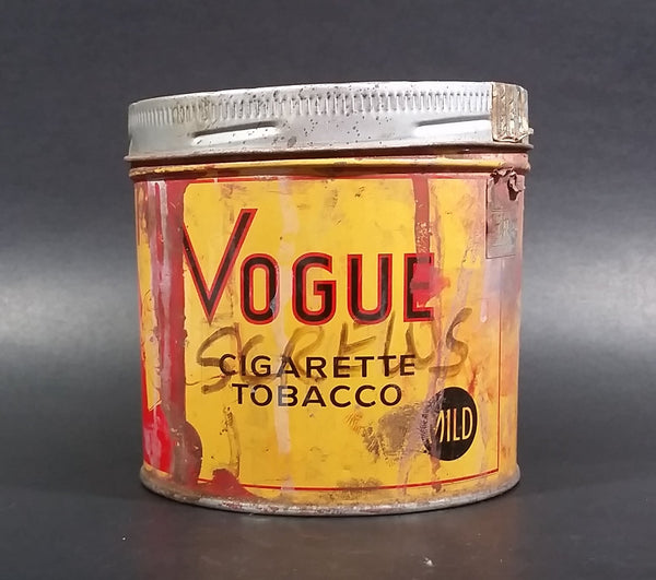 Vintage 1960s Vogue Mild Cigarette Tobacco Tin with Lid (Has paint on it) - Treasure Valley Antiques & Collectibles