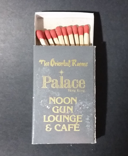 Hong Kong Convention Center The Oriental Rooms Palace Noon Gun Lounge & Cafe Wooden Matches Box Pack - Treasure Valley Antiques & Collectibles