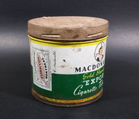 1940s Macdonald's Gold Standard Export Cigarette Tobacco Tin - Treasure Valley Antiques & Collectibles