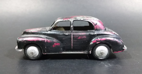 1950s Dinky Toys Meccano Morris Oxford No. 159 Black Pink Originally Brown Die Cast Toy Car Vehicle - Treasure Valley Antiques & Collectibles