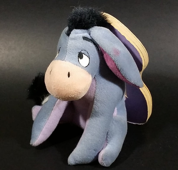 "1997 Disney Winnie the Pooh Eeyore Character Soft Plush w/ Book ""Friendly Tales"" Mouse Works"