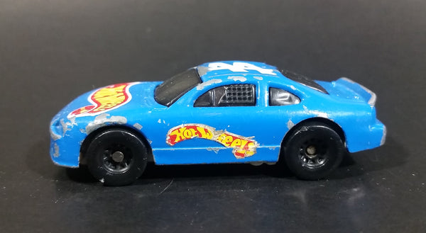 1998 Hot Wheels Racer Nascar #44 Blue Die Cast Toy Race Car Vehicle McDonald's Happy Meal - Treasure Valley Antiques & Collectibles