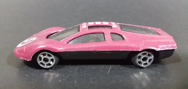 "Summer Marz Karz ""555"" Maroon Burgundy Die Cast Plastic Bottom Race Car Vehicle - Treasure Valley Antiques & Collectibles"