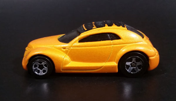 1999 Hot Wheels First Editions Chrysler Pronto Pearl Yellow Orange Die Cast Toy Car Vehicle - Treasure Valley Antiques & Collectibles