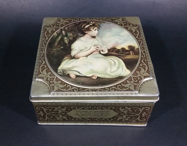 Vintage Thorne's Leeds, England The World's Premier Toffee Tin - The Age of Innocence by Sir Joshua Reynolds P.R.A. - Treasure Valley Antiques & Collectibles
