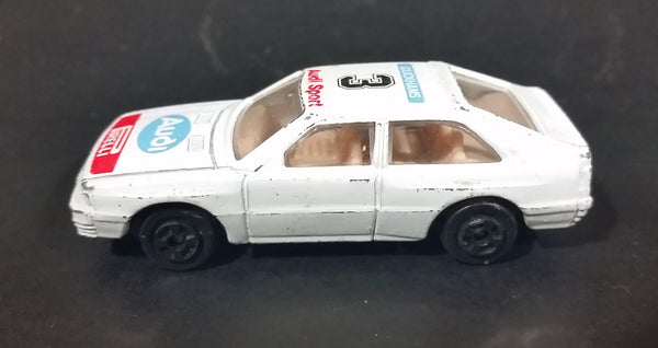 Vintage Audi Sport #3 Duckhams Pirelli White Die Cast Toy Racing Car Vehicle - Hong Kong