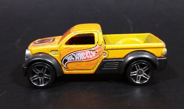 2003 Hot Wheels First Editions Dodge M80 Truck Yellow Orange Die Cast Toy Car Vehicle - Treasure Valley Antiques & Collectibles