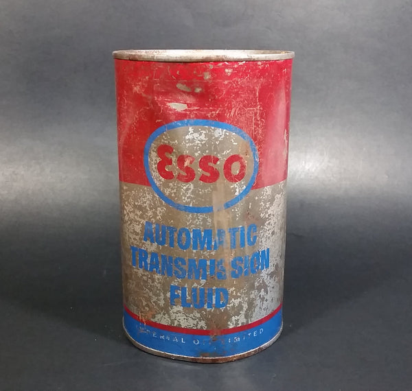 Vintage FULL Esso Automatic Transmission Fluid 1 Quart Can - Never Opened - Treasure Valley Antiques & Collectibles
