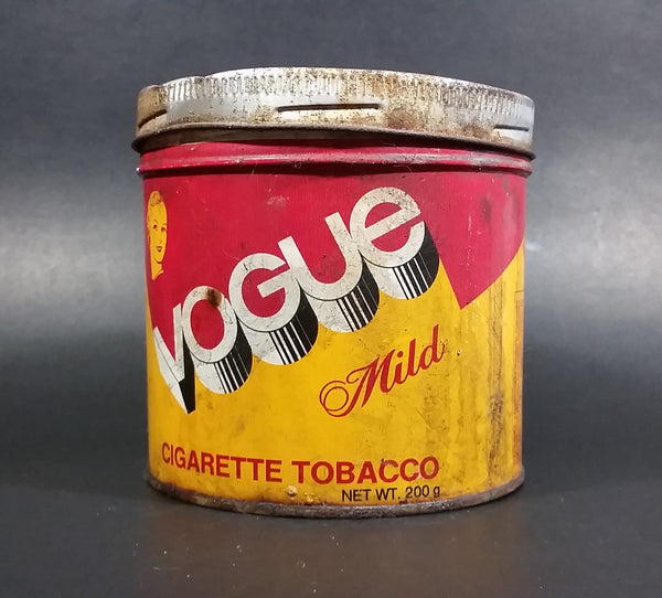 Vintage Vogue Mild 200g Tobacco Tin Canister English and French w/ Lid - Treasure Valley Antiques & Collectibles
