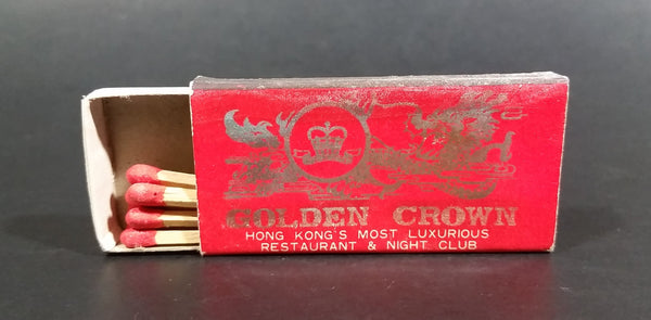 Golden Crown Hong Kong's Most Luxurious Restaurant & Night Club Wooden Matches Pack - Treasure Valley Antiques & Collectibles
