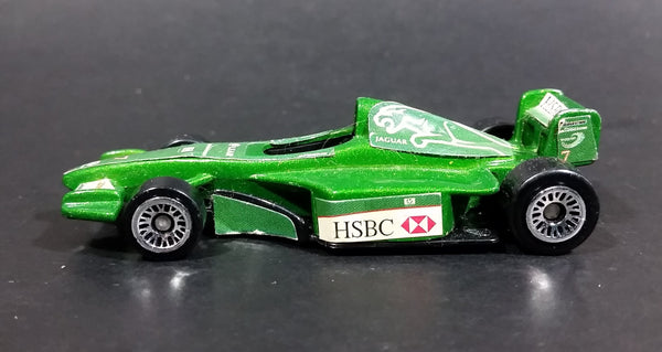 2000 Hot Wheels HSBC Jaguar Formula One #7 Green Die Cast Toy Race Car Vehicle - McDonald's Happy Meal - Treasure Valley Antiques & Collectibles