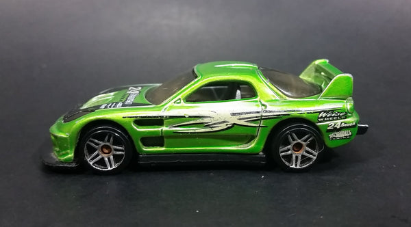 2006 Hot Wheels Drift Kings 24/Seven Green Die Cast Toy Race Car Vehicle - Treasure Valley Antiques & Collectibles