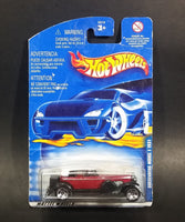 2001 Hot Wheels 1931 Duesenberg Model J ('31 Doozie) Dark Red Die Cast Toy Car Vehicle No. 176 - New Sealed - Treasure Valley Antiques & Collectibles