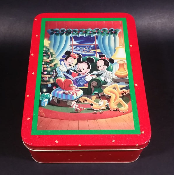 1994 Disney It's A Small World Holiday Mickey, Minnie, and Friends Christmas Holiday Tin