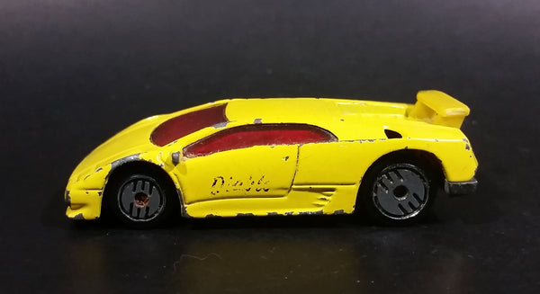 1994 Hot Wheels Lamborghini Diablo Yellow Die Cast Toy Exotic Sports Car Vehicle - Treasure Valley Antiques & Collectibles