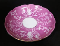 Vintage Shafford Japan Pink & White Bird Motif Saucer with Gold Trim - Treasure Valley Antiques & Collectibles