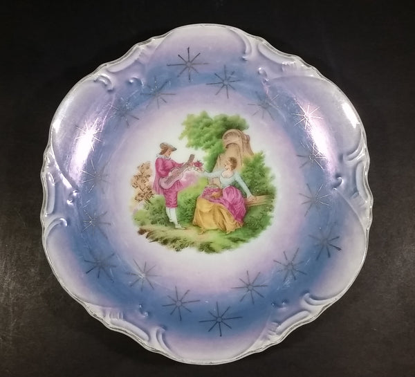 Vintage 1940-1950 Limoges Style Fragonard Courting Lovers Porcelain Plate