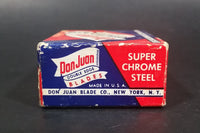 Vintage Don Juan Double Edge Blades - Super Chrome Steel - 6 left in box wrapped - Treasure Valley Antiques & Collectibles