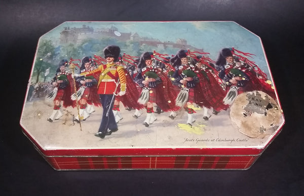 Vintage Gray and Dunn 'Scots Guards at Edinburgh Castle' Biscuits Cookie Tin - Hinged - Treasure Valley Antiques & Collectibles