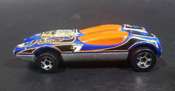2003 Hot Wheels Vintage Splittin' Image 7 Blue Die Cast Toy Race Car Vehicle - Treasure Valley Antiques & Collectibles