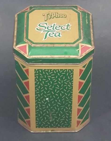 Vintage Ty-Phoo Select Tea Green Tin Storage Container - Treasure Valley Antiques & Collectibles