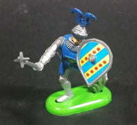 1971 Britains Ltd Soldier Knight in Armor with a Mace and Blue Themed Shield Toy Figure - Treasure Valley Antiques & Collectibles