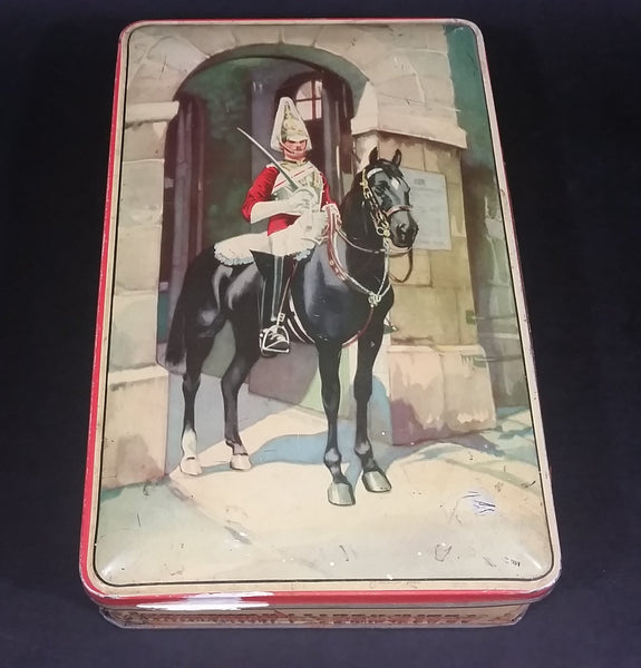 Vintage Gray and Dunn Knight on a Horse in Archway Assorted Chocolates Tin Collectible - Treasure Valley Antiques & Collectibles