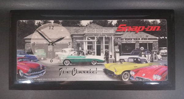 "1999 Snap-On Tools ""It's Classic"" Limited Edition Recognition Award Classic Cars Wall Clock - Lane Manufacturing"
