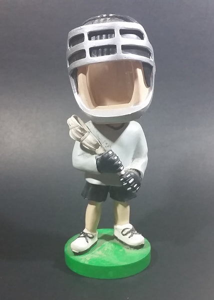 "6 1/2"" Male Lacrosse Player Photo Picture Frame Bobble Head Figurine Sports Collectible - Treasure Valley Antiques & Collectibles"