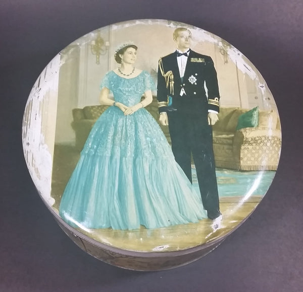 1953 Huntley & Palmers Queen Elizabeth II & The Duke of Edinburgh Biscuits Tin