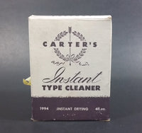 Vintage Carter's Instant Type Cleaner. Cobalt Blue Bottle with Box and Brush - Treasure Valley Antiques & Collectibles