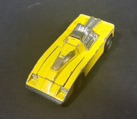 1981 Hot Wheels Cannonade Yellow Die Cast Toy Race Car Vehicle w/ Opening Hood