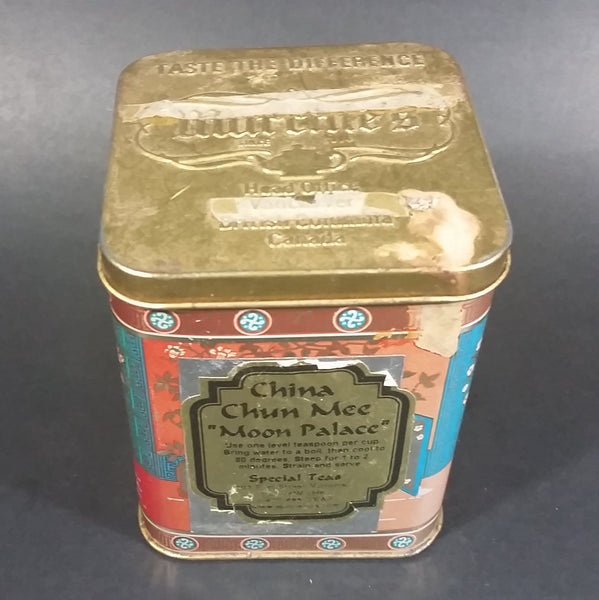 "Collectible Murchie's China Chun Mee ""Moon Palace"" Special Teas Tin Container - Victoria, B.C. - Treasure Valley Antiques & Collectibles"