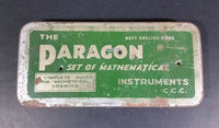 "Very Rare Vintage The Paragon Set of Mathematical Instruments ""Best English Make"" in Original Tin - Treasure Valley Antiques & Collectibles"