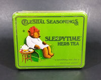 1982 Celestial Seasonings Sleepytime Herb Tea Empty Green Tin Container